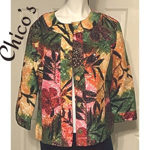Beautiful Chico's Jacket Size 2 (L 12) NWT